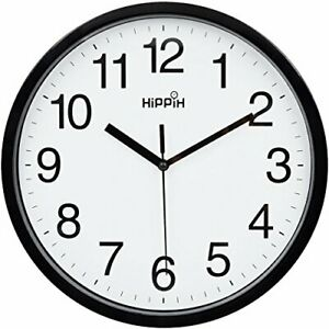 Large Wall Clock Silent Indoor Outdoor Battery Powered Analog Office Home School $14.50