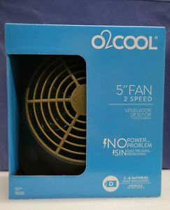 Brand New O2 Cool 5in 2 Speed Battery Operated Portable Fan No Power No Problem $15.00