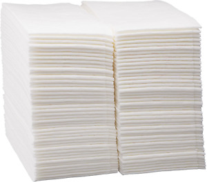 100 Count Luxury Linen Feel Disposable Guest Hand Towels in Bulk Soft amp; Absorbe