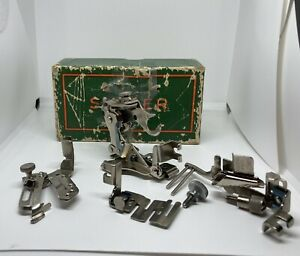 SINGER SEWING ATTACHMENTS 160359 1261 36865 35931 in Vintage Singer Box $43.90