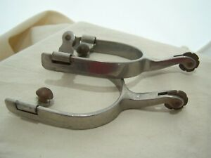 STAINLESS SPURS 3 4 SMOOTH ROWEL 2 Stem Western Cowboy Training