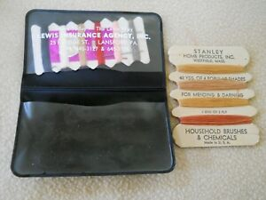 2 Vintage Advertising Sewing Kits Stanley Home Products amp; Lewis Insurance $2.99