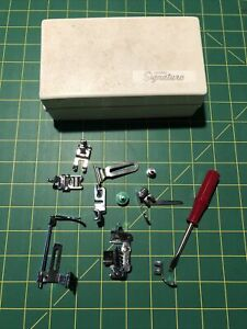 Montgomery Ward Sewing Machine Parts Needle Clamp Foot Feet Guides amp; Case $19.99