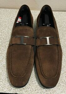 NWT $675 Tod's Mens IT9 US10 T logo Suede Brown Loafers Made in Italy $249.00