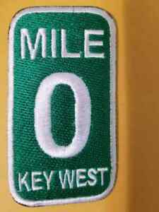 KEY WEST FLORIDA MILE 0 Embroidery Biker Patch sewn or iron 3.5quot;