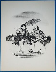 Honore Daumier quot;Les Plaisirsquot; #21 of 24 Lithograph of Hunting amp; Fishing $6.99