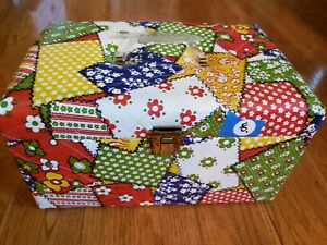 Vintage 1970#x27;s Quilted Sewing Box With Original Label $35.00