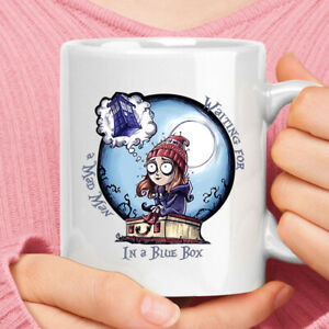 Waiting For A Mad Man In A Blue Box Tim Burton Doctor Who Mug