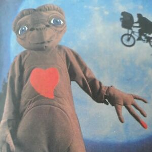 Vintage ET Extra Terrestrial Costume Pattern McCall#x27;s Sewing Kids Large UNCUT $19.99