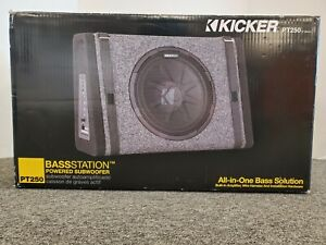 Kicker PT250 BassStation Powered Subwoofer All in One Bass Solution. NEW $139.99