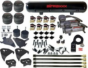 Air Kit Pewter Air Compressors 2500 Bags 1 2quot;npt Valves Blk AVS 7 For Chevy S10 $1214.89