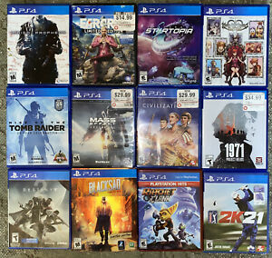 PS4 Game lot used 13 Games Destiny Mass Effect Tomb Raider Farcry 4 Etc.
