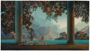 Daybreak by Maxfield Parrish reproduction large $135.00