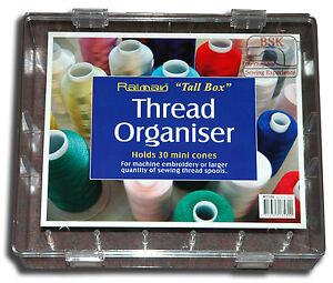 Starlite Sewing Thread Box Organiser Holds 30 large reels Extra Tall A871 GBP 15.95
