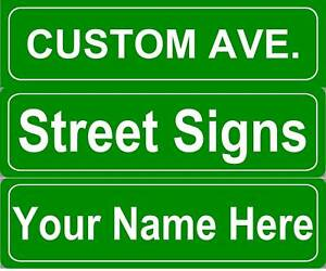 Custom Personalized Street Sign Metal 5