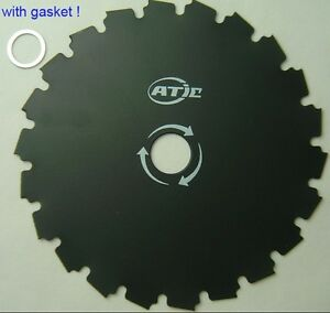 NEW 8 BRUSH CUTTER TRIMMER BLADE 22 TOOTH 1 or 20mm arbor FREE SHIPPING
