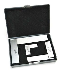 Machinist Square 90º Right Angle Engineer#x27;s 3 Set DIN Standard 2quot; 4quot; 6quot; iGaging $34.89