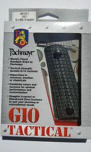 Pachmayr G 10 Tactical Grip * 1911 Gray Black Grappler * 61011 New