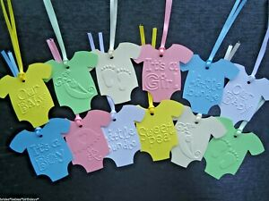 10 Gift Tags Baby Shower Favour Bomboniere Christening Baptism Birthday