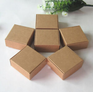 100x Kraft Paper Boxes Birthday Wedding Favour Bomboniere Cabdy Lolly Gift Boxes
