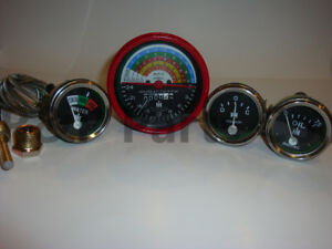 Temperature Tachometer Oil Amp Gauge Set Compatible with Farmall IH 300 350 Row $128.80