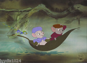 """1999 DISNEY STORE EXCLUSIVE LITHOGRAPH: The RESCUERS 11""""X14"""" Litho FREE SHIPPING $19.99"""
