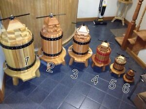 Wooden Wine Presser 9h X 6w X 13d (HANDMADE) Price Is For #6 Only