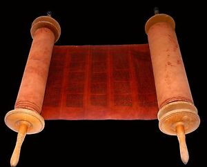 COMPLETE RARE HANDWRITTEN TORAH BIBLE SCROLL DEER SKIN 250 YRS YEMEN