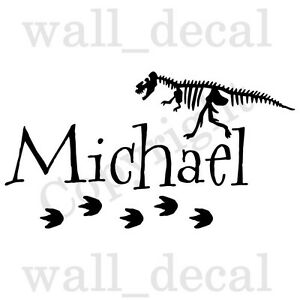 Personalized Dinosaur Child Name Wall Decal Quote Vinyl Decor Sticker Nursery