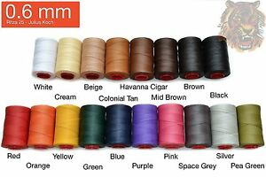0.6mm Ritza quot;Tigerquot; Thread Many Colors Leather hand sewing 25M 82ft $6.95