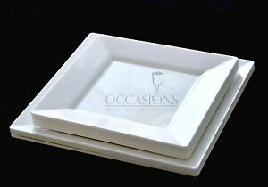 Bulk Disposable Wedding Square Plastic Plates  and Bowls