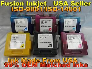 6 Compatible BCI-1421 Cartridges for Canon W8200PG PIGMENT INK imagePROGRAF zz