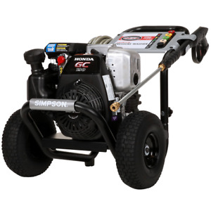 Simpson MegaShot 3200 PSI (Gas-Cold Water) Pressure Washer w Honda Engine (M...