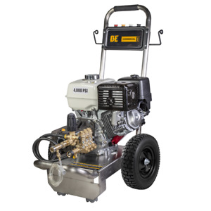 BE Professional 4000 PSI (Gas-Cold Water) Pressure Washer w Honda GX390 Engi...