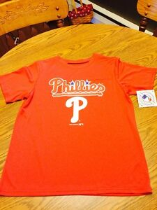 Philadelphia Phillies MLB Youth Large 1214 Dry Fit T-Shirt NWT