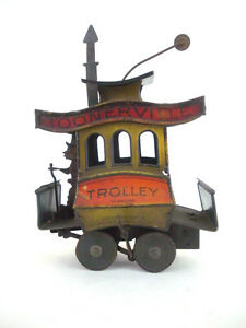 1922 toonerville trolly wind up litho tin