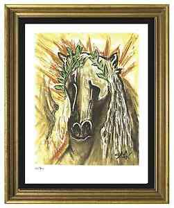 Salvador Dali Signed Hand Numbrd Ltd Ed quot;Horse of Springquot; Litho Print unframed $79.99