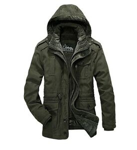 AFS JEEP Men's Jacket Coat Autumn Winter Tourism Fishing Hunting Removable Cap