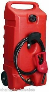 14 Gal Flo NGo Duramax 06792 Red Portable Wheeled Gas Fuel Container 627366 $134.99