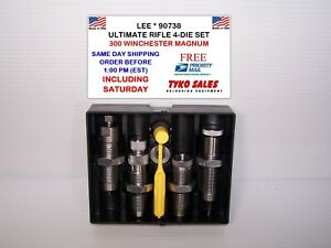 90738 * LEE ULTIMATE 4-DIE SET * 300 WINCHESTER MAGNUM