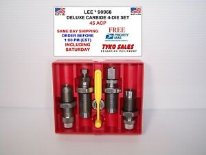 90968 * LEE PRECISION DELUXE CARBIDE 4-DIE SET * 45 ACP * #90968 * NEW!