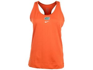 Florida Gators Womens NIKE Dri Fit Tank Top Stay Dry Shirt Orange S M L XL