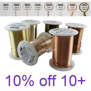 Bead Smith Tarnish Resistant Craft Copper Wire Gold Silver Copper 16 28 gauge $7.50