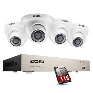 ZOSI 8CH 1080p DVR 2MP Outdoor Home Security Camera System with Hard Drive 1TB