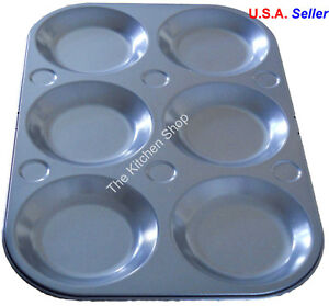 Muffin Top Pan 6 Cup Topper Pan Non Stick Bake Ware Baking Muffin Tops (New)