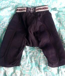 Mens Under Armour MPZ Padded Compression Black Sliding Shorts Small *WoW*