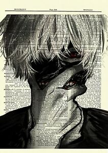 Kaneki Tokyo Ghoul Anime Dictionary Art Print Poster Picture Book Japan Manga