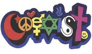 CM009 Happy Coexist Full Color Mini Sticker