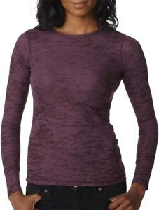 Womens Next Level Burnout Thermal Long Sleeve T Shirt # 8511 $8.49