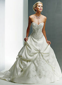 BRAND NEW Maggie Sottero Wedding Dress - Monalisa Royale (whitepewter size 6)